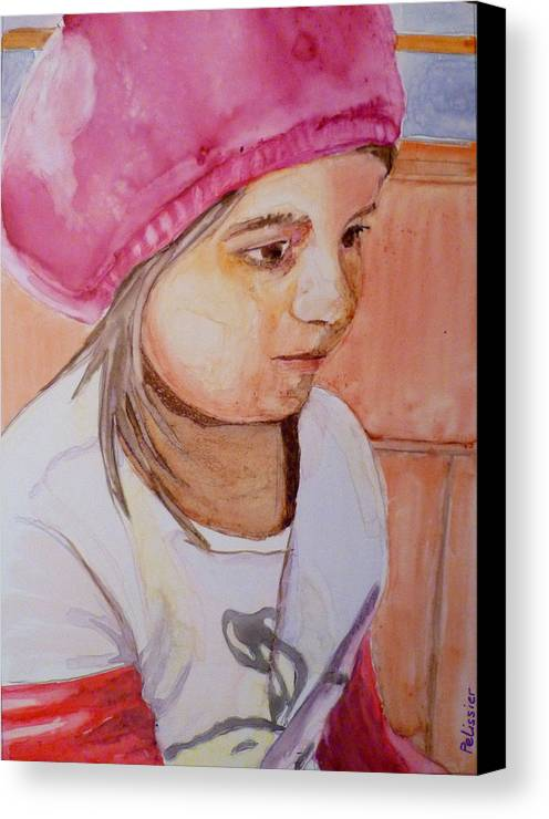 Girl Canvas Print featuring the painting Sushi Bar by Sandrine Pelissier