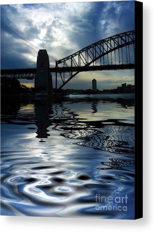 Sydney Harbour Australia Bridge Reflection Canvas Print featuring the photograph Sydney Harbour Bridge Reflection by Sheila Smart Fine Art Photography