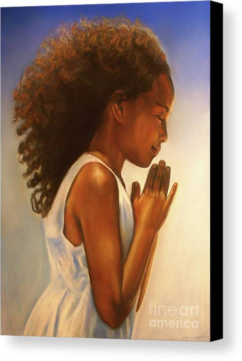 Earth Angel I Canvas Print featuring the drawing Thanksgiving Is Everyday by Curtis James