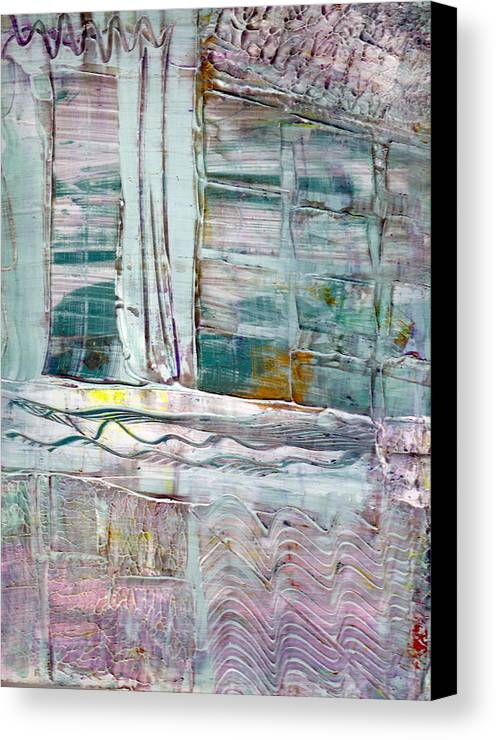 Abstract Canvas Print featuring the painting The Corner Window by Wayne Potrafka