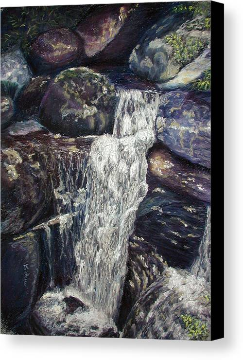 Falls Canvas Print featuring the painting The Falls by Brenda Ferro