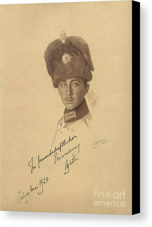 The Prince Kyrill Of Bulgaria Kyril Of Saxe-coburg And Gotha Kohary Canvas Print featuring the painting The Prince Kyrill Of Bulgaria by MotionAge Designs