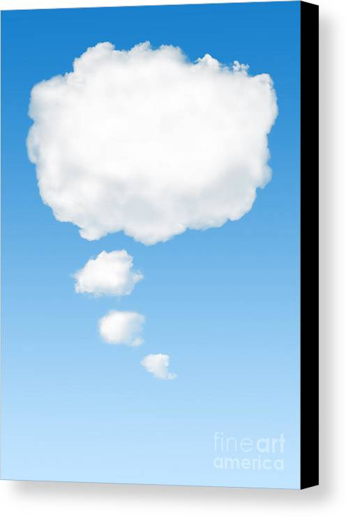 Background Canvas Print featuring the photograph Thinking Cloud by Carlos Caetano