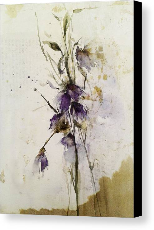 Flowers Canvas Print featuring the painting Translucent by Annemiek Groenhout