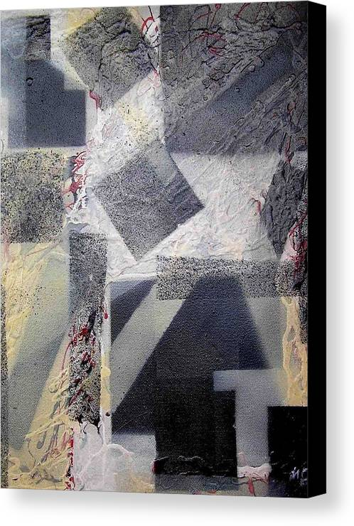 Abstract Canvas Print featuring the painting undercover N2 by Evguenia Men