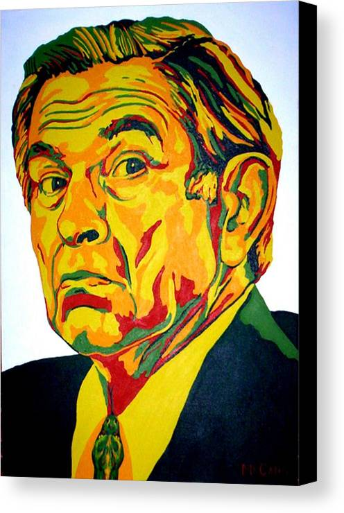 Politics Canvas Print featuring the painting Wolfowitz by Dennis McCann