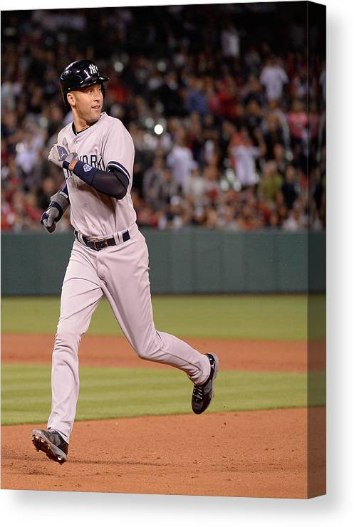 People Canvas Print featuring the photograph New York Yankees V Los Angeles Angels 1 by Harry How