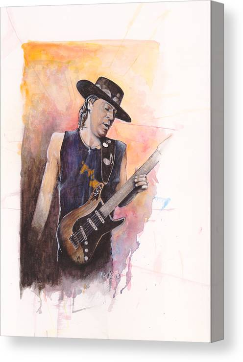 Stevie Ray Vaughan Canvas Print featuring the painting Texas Tornado by William Walts
