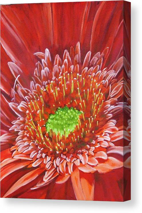 Flower Canvas Print featuring the painting Cameo by Barbara Keith
