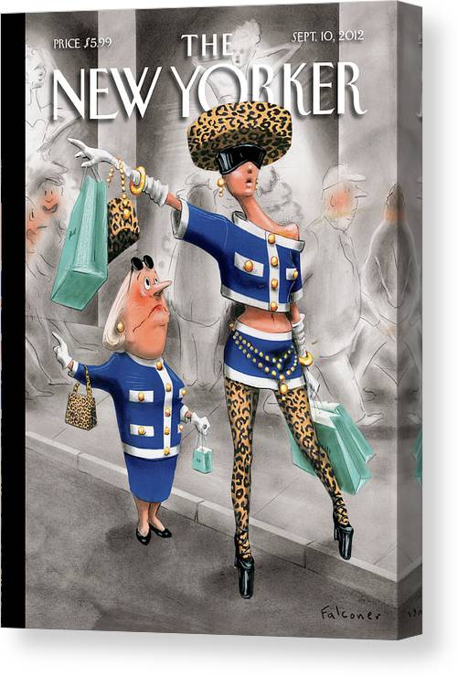 Fashion Canvas Print featuring the painting New Yorker September 10th, 2012 by Ian Falconer