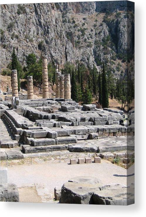 Athens Canvas Print featuring the photograph Ancient Delphi 23 by Teresa Ruiz