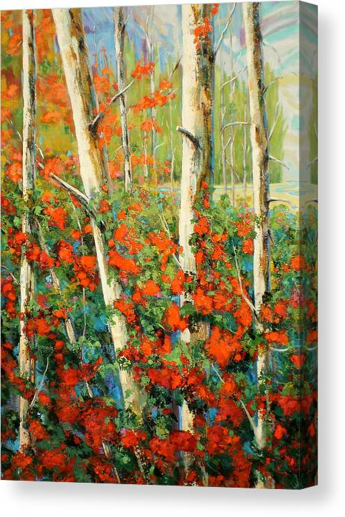 Marilynhurst Canvas Print featuring the painting Coastal Beauty by Marilyn Hurst