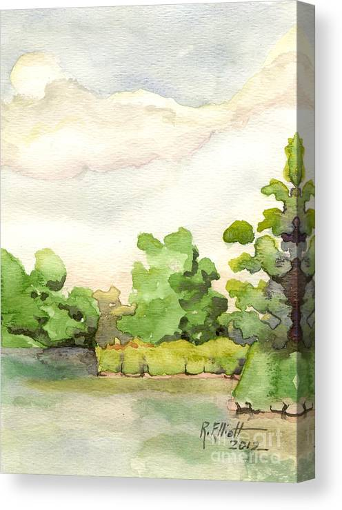 Acrylic Prints Canvas Print featuring the painting Downriver Napanee by John Herzog