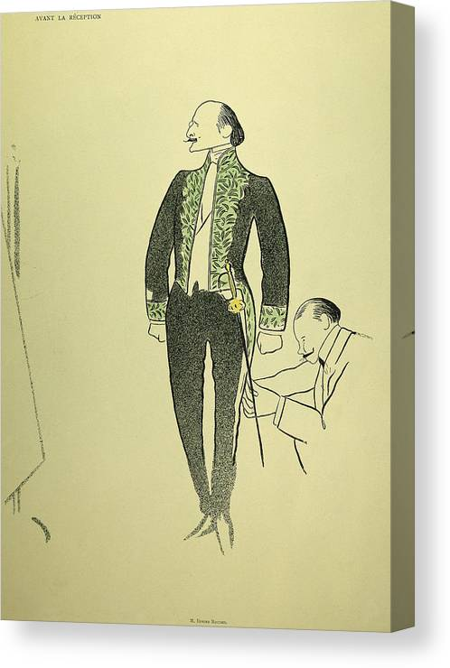 1901 Canvas Print featuring the drawing Edmond Rostand (1868-1918) by Granger