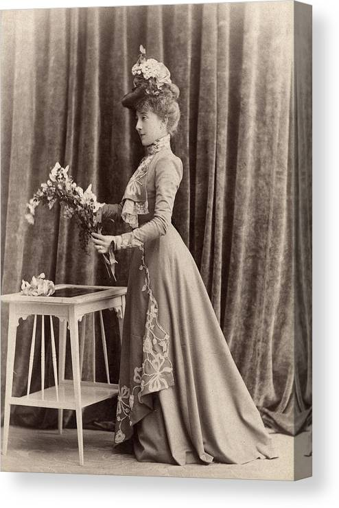 1895 Canvas Print featuring the photograph France Woman, C1895 by Granger