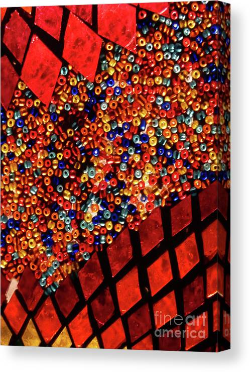 Artistic Canvas Print featuring the photograph Glass And Beads by Angela Wright