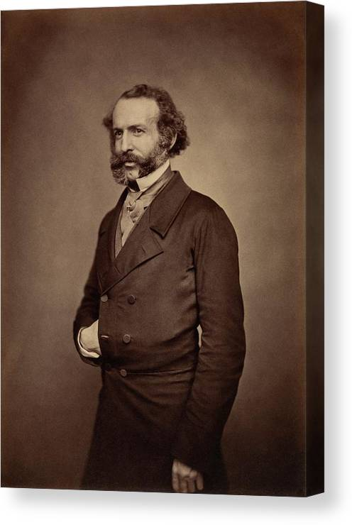 1800s Canvas Print featuring the photograph John Rae by Royal Institution Of Great Britain / Science Photo Library