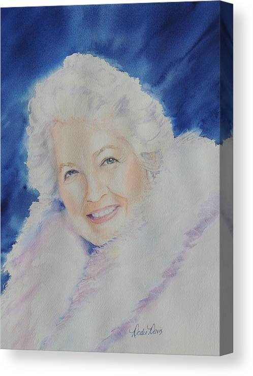 Watercolor Paintings Canvas Print featuring the painting Mama J by Dodie Davis