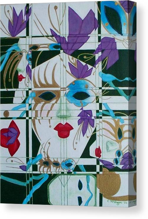 Mardi Gras Canvas Print featuring the painting Mardi Gras by Cathy McGregor