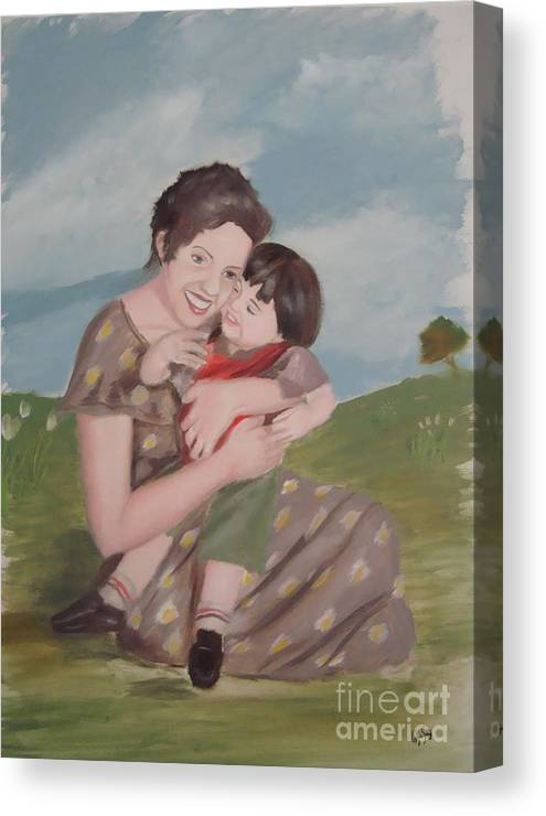 Mother Canvas Print featuring the painting Mother's Love by Angela Melendez