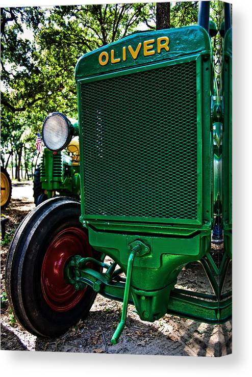 Tractor Canvas Print featuring the photograph Oliver Tractor by Mark Alder