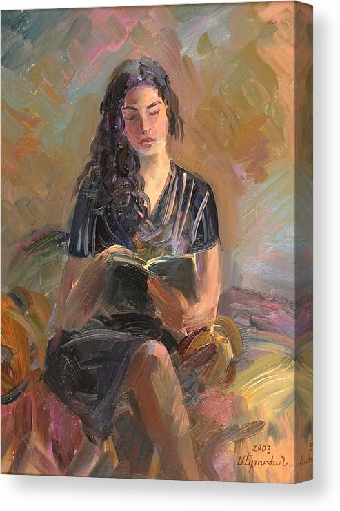 Etude Canvas Print featuring the painting Portrait Of Mery by Meruzhan Khachatryan