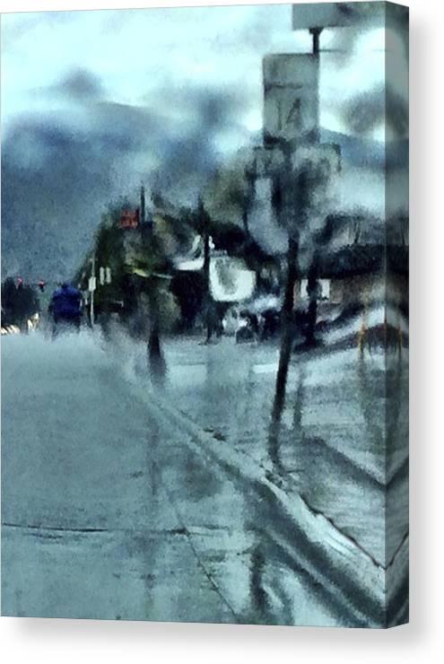 Rain Canvas Print featuring the mixed media Saturday Morning Rain by Bob RL Evans