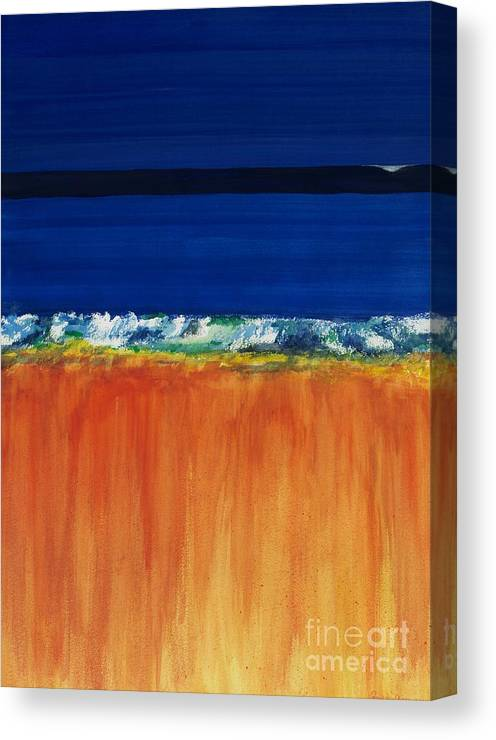 Oceans Canvas Print featuring the painting The Next Big Wave by Frances Marino
