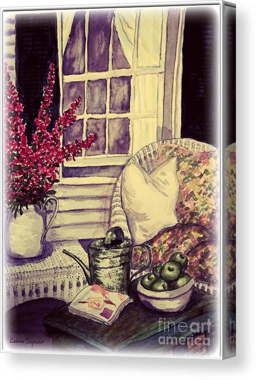 Verandah Canvas Print featuring the painting Time To Relax by Leanne Seymour