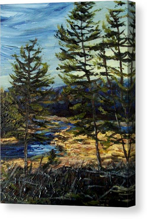 Adirondacks Canvas Print featuring the painting Wetland Meadow by Denny Morreale
