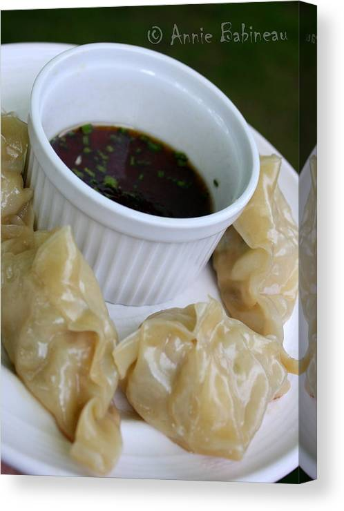 Homemade Canvas Print featuring the photograph Homemade Potstickers by Annie Babineau