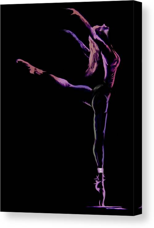 Dancer Canvas Print featuring the painting Dancer by Jose Luis Reyes
