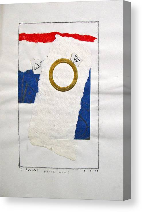 Abstract Paintings Canvas Print featuring the drawing Bloodline - Sketchbook 1 Pg 39 by Cliff Spohn