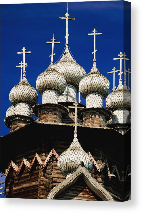 Vertical Canvas Print featuring the photograph Transfiguration Cathedral On Kizhi by Axiom Photographic