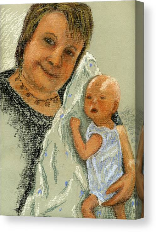 Grandmother Canvas Print featuring the painting Barb And Jacob by Marina Garrison