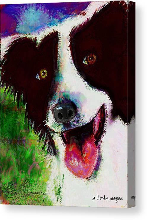 Dog Canvas Print featuring the digital art Bob by Arline Wagner