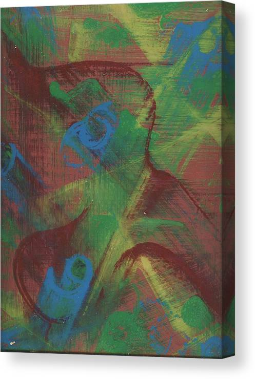 Abstract Canvas Print featuring the painting Body Fusion by Cathy Minerva