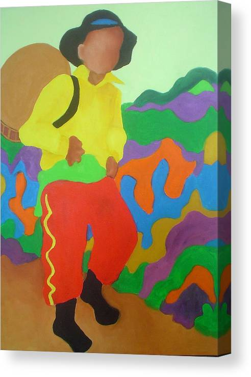 Brasil Canvas Print featuring the painting Brasil Boy by Diana Ogaard