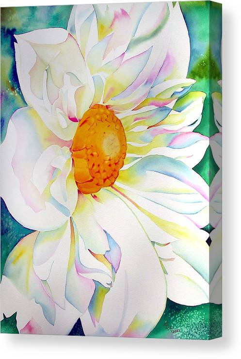 Flowers Canvas Print featuring the painting Celebration Of Light by Ada Astacio