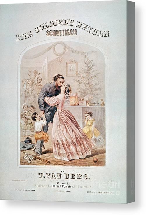 1864 Canvas Print featuring the photograph Civil War: Songsheet by Granger