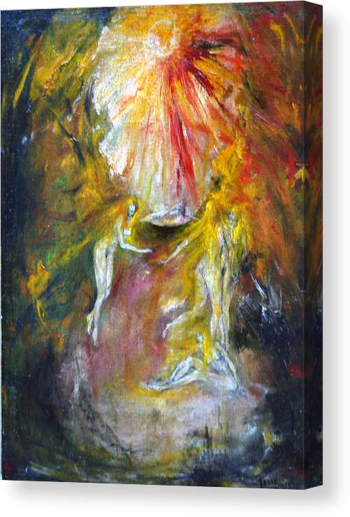 Imagination Canvas Print featuring the painting Dance by Wojtek Kowalski