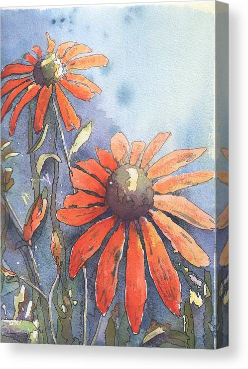 Echinacea Canvas Print featuring the painting Echinacea by Robynne Hardison