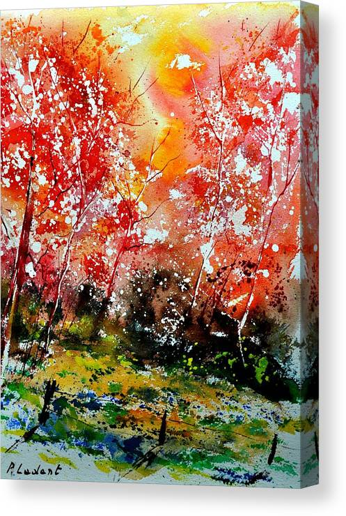 Nature Canvas Print featuring the painting Exploding Nature by Pol Ledent