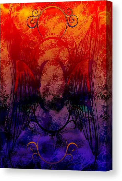 Flight Canvas Print featuring the digital art Flight Of The Phoenix by Christopher Sprinkle