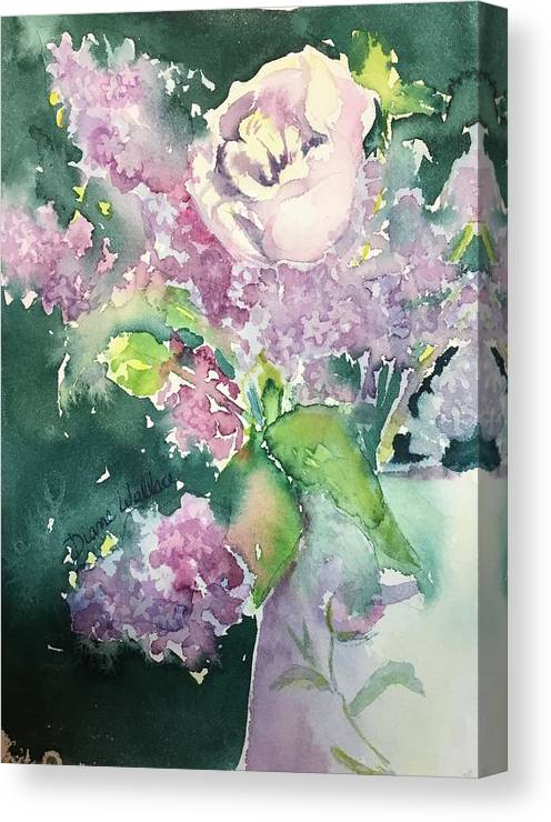 Floral Friday. Floral Canvas Print featuring the painting Floral Friday Jan 6 2016 by Diane Wallace