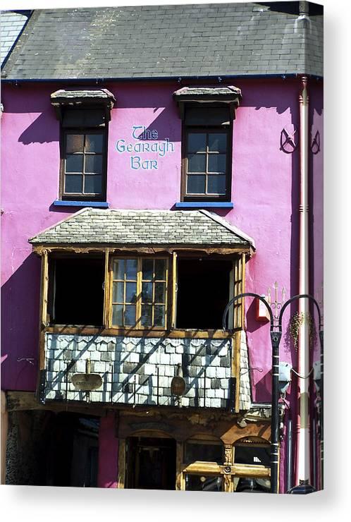 Irish Canvas Print featuring the photograph Gearagh Pub In Macroom Ireland by Teresa Mucha