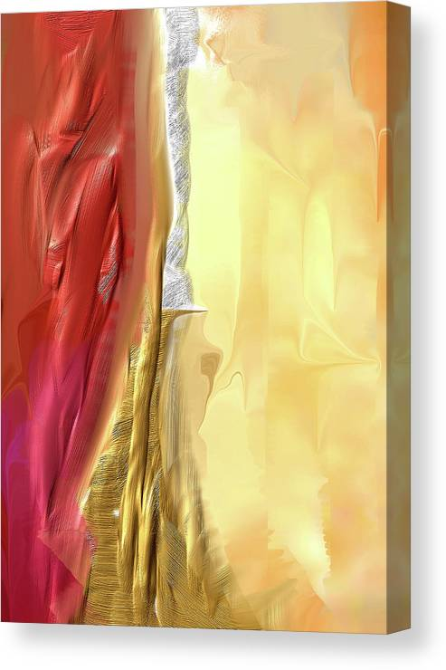 Davina Nicholas Canvas Print featuring the painting Glowing Joy by Davina Nicholas