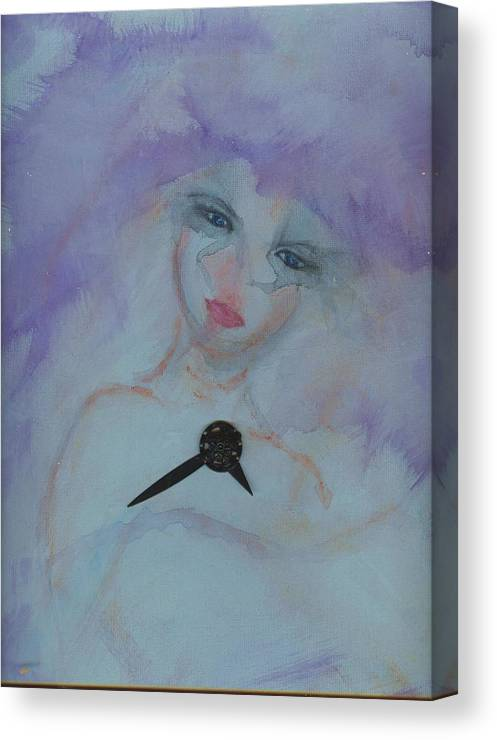 Insomnia Canvas Print featuring the painting Insomnia by Cathy Minerva
