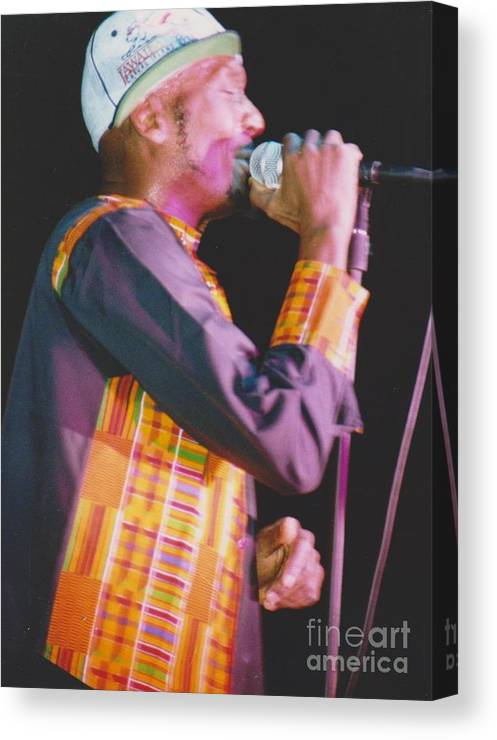 Jimmy Cliff Canvas Print featuring the photograph Jimmy Cliff by Mia Alexander