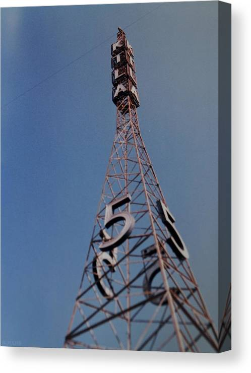 Hollywood Canvas Print featuring the photograph K T L A Channel 5 by Rob Hans
